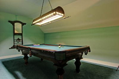 The game room at the main house