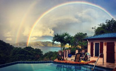 Double Rainbow from the loggia! Happens often.