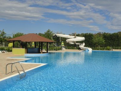 Photo for COMPETATIVE PRICE  FAMILY FRIENDLY, Airport 15mins, 2 Pools, Beach 500m, Wifi