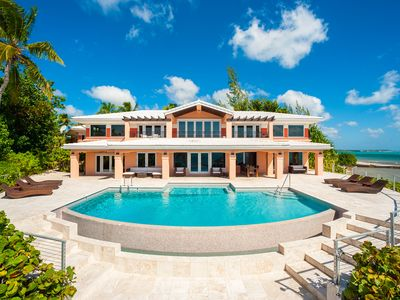 Pease Bay House: Luxury Beachfront Estate w/ Infinity Pool & Private Tennis Court