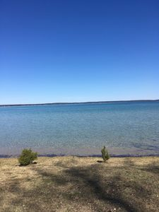 Photo for cottage 100 feet private lakefront on beautiful higgins lake