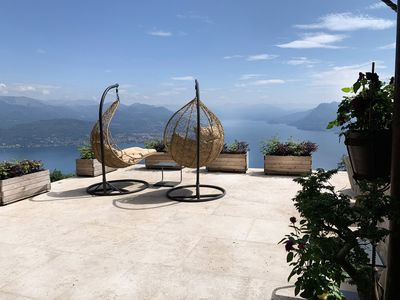 Photo for Private Luxury Spa-Retreat with Spectacular View over the Lake Maggiore