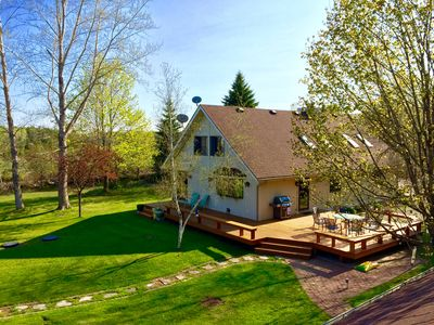 Photo for Newly remodeled home & guest house w/ sauna - 10 acres of beauty & privacy.