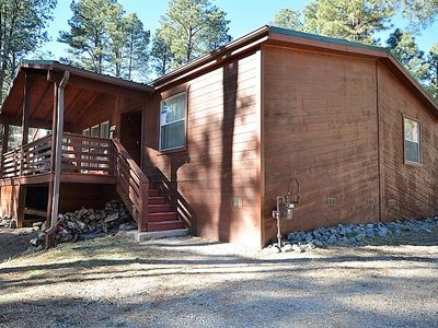 Photo for LARGE ONE LEVEL 5 BEDROOM/4 BATH CABIN CLOSE TO DOWNTOWN WITH WIFI
