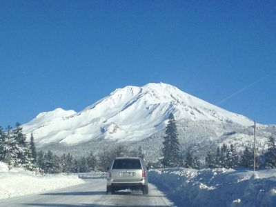 Drive from Pine House to 14000 ft. Mt Shasta on 12/26/15