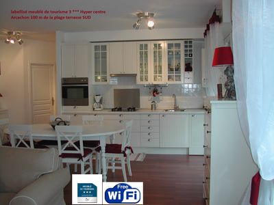 Photo for 3 *** 84 m² property, in the heart of Arcachon, 100 m away from the beach