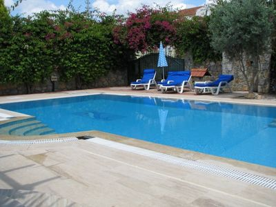 Large secluded & private pool & walled garden