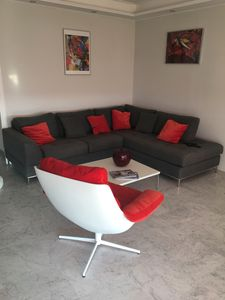 Photo for Excellent 2/3 bedroom flat, Antibes,180 degree sea views pets welcome, sleeps 6