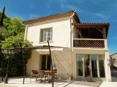 Photo for House with beautiful views, a small estate with pool and table d 'hote.