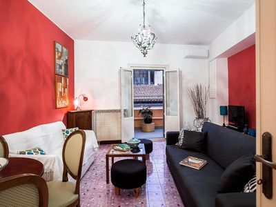 Photo for Spacious Mercede apartment in Piazza di Spagna South with WiFi, integrated air conditioning, privat…