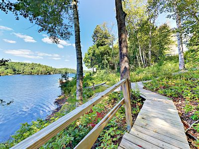 Backyard - Perched on West Harbor Pond, you can walk to prime swimming, fishing, and kayaking in seconds.