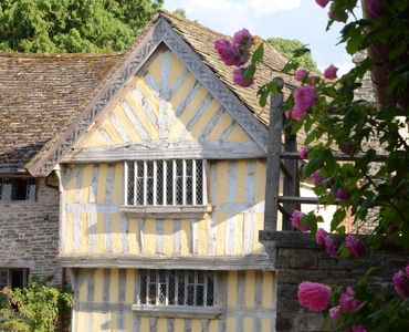 Photo for Historic Tudor Manor House in the Welsh Marches - log fires, walks, culture, fun