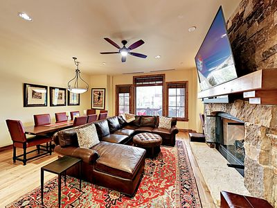Photo for New Listing! The Valley: Luxurious Ski-In/Ski-Out Condo w/ Pool & Hot Tubs