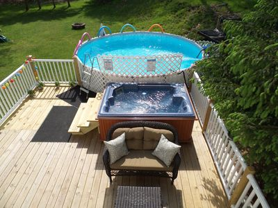Photo for Spacious 3Bdrm with Private Pool, Hot Tub, pool table;close to Water& Ski Parks