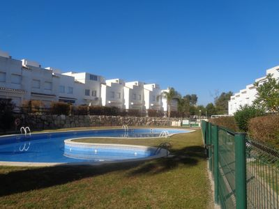 Photo for TOWNHOUSE WITH GARDEN; BBCOA, 3 HAB. 2 BATHROOMS, AA. DC. PARKING. 400 M BEACH