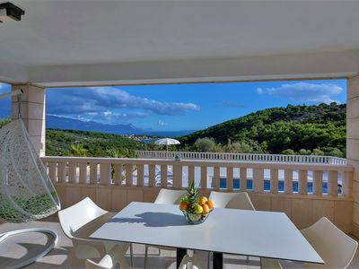 Photo for Holiday house with pool and sea-panoramic view, ** LASTMINUTE **