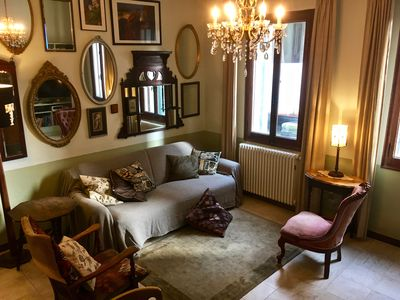 Photo for Spacious canal-side apartment in the heart of Venice