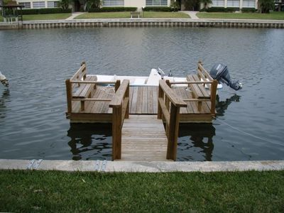 Dock and boat in back yard!