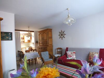 Photo for Charming 3-star classified house 2 minutes walk from the seaside, beach, por