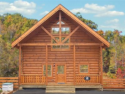 Photo for Luxury Cabin: 3 Kings, 2 Jacuzzi, HotTub, WiFi, Free Night Option, 3-Levels