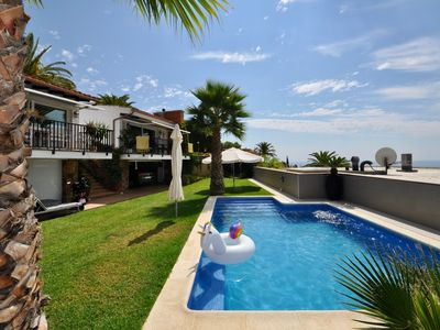 Photo for Townhouse Trull- view to the sea, kitchen, communal pool and barbecue