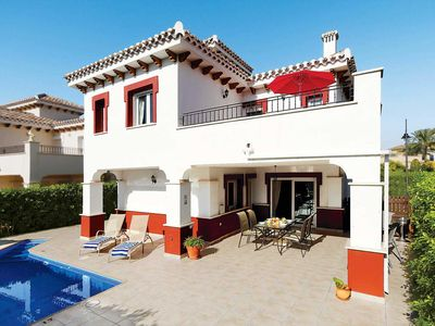 Photo for 3 bedroom Villa, sleeps 6 in La Manga del Mar Menor with Pool, Air Con and WiFi