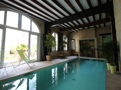 Photo for 3500 SQF/HISTORIC HOUSE WITH WARMED POOL IN THE OLD SAUMUR/GREAT VIEWS