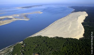 Panoramic view of the large dune