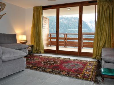 Photo for The apartment « Les Flambeaux » is an exceptional property situated in the heights of Chatel and in