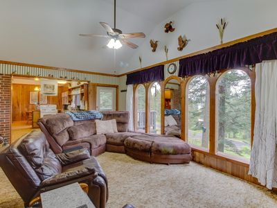 Photo for NEW LISTING! Classic cabin w/ views, a mother-in-law suite, & forest acccess