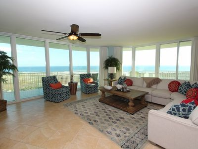 Photo for Caribe C1010- Lovely Gulf View,Large Terrace,Lazy River,Pool Slides!