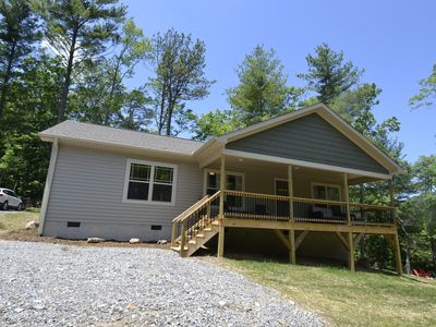 Photo for Near Asheville*Hot Tub* New Home*Mountain Views*family friendly*Fire pit