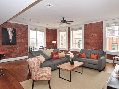 Photo for 1 Block from Main St 2bdrm, 2ba loft style condo - Super CLEAN AND SANITIZED