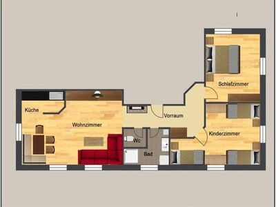 """Photo for Holiday apartment """"Priel"""" / 2 bedrooms / shower, WC - Baby- and Kinderbauernhof Riegler"""