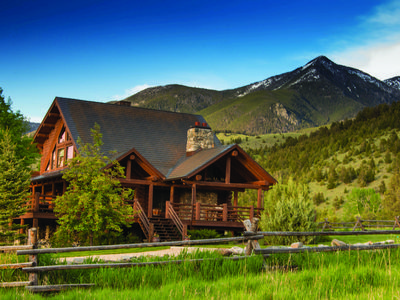 Photo for Luxury log home nestled in the mountains with creek & pond, year round rental