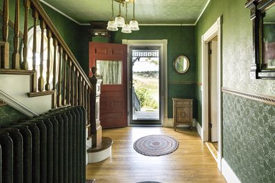 Front door and entry way.