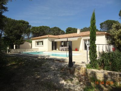 Photo for villa fully air-conditioned with pool in St Tropez