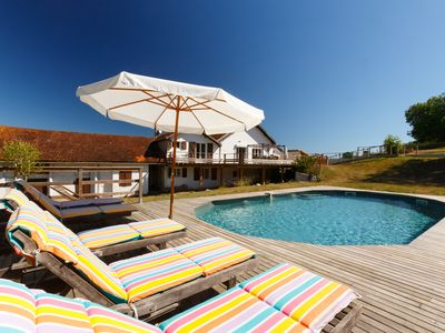 Photo for Béarn house of character, quiet by nature, with swimming pool