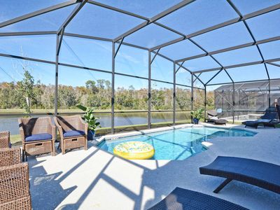 Photo for BRAND NEW UNIT, BEAUTIFUL WATERFRONT POOL AREA, BBQ GRILL AND GAME ROOM !!!