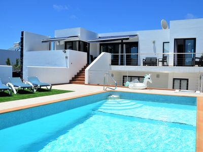 Photo for Spacious Villa Large Heated Pool, Air Con, Stunning Panoramic Sea & Island Views