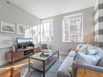 Photo for Dandy Wall St 1BR w/ Office nook, Gym, + Doorman by Blueground