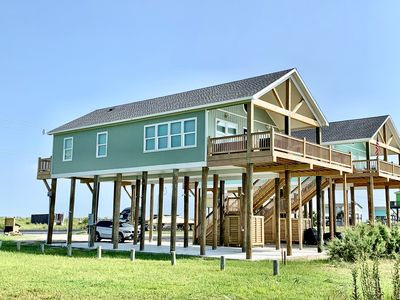 Photo for BLUE HERON - BEACHFRONT - So Close to the Water!!  3 bedroom, sleeps 10