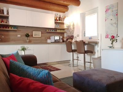 Photo for Charming attic in the historic center of Bardolino FREE PARKING!