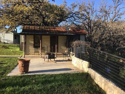 Photo for Quaint cabin overlooking the Frio Springs