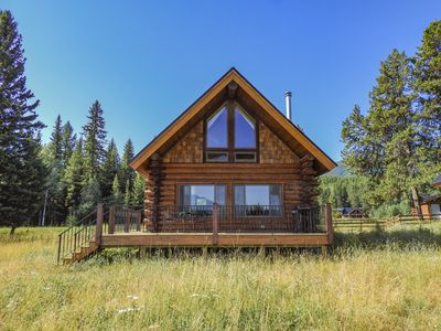 Photo for Beautiful 2-bedroom Log Cabin Near Glacier Nat. Park and Polebridge Mercantile