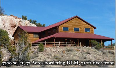 3700 square feet - 37 acres - whitewater rafting, fishing, hunting onsite!