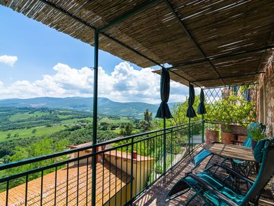 Photo for Cozy Holiday Home in Montecastelli Pisano with Balcony