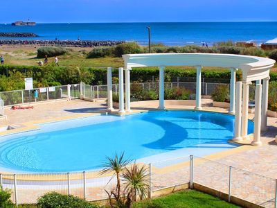 Photo for Splendid sea view T3 apartment in beautiful residence with large swimming pool - Cap d'Agde