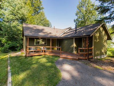 Photo for Mountain home w/ large, furnished deck, & gas grill - located on the golf course