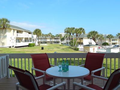 Photo for #1071 Great ground level 2 BR overlooking pool & golf course. Pet friendly.